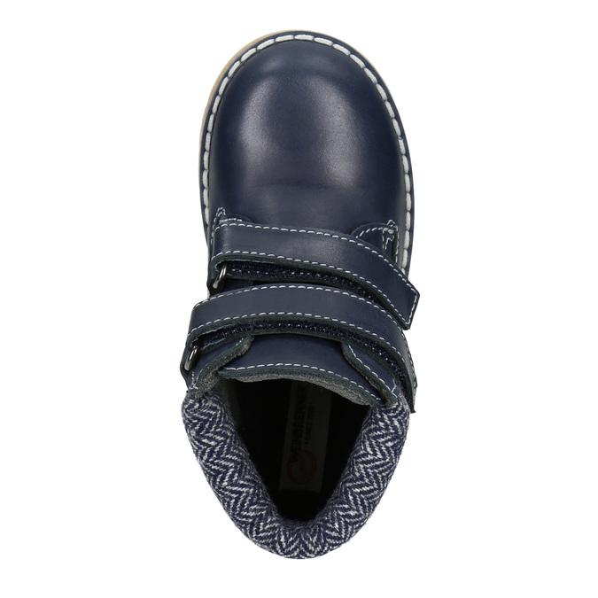 Detská kožená členková obuv weinbrenner-junior, modrá, 216-9200 - 15
