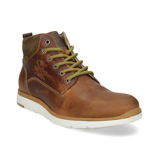 Kožená pánska členková obuv bata, hnedá, 846-3645 - 13