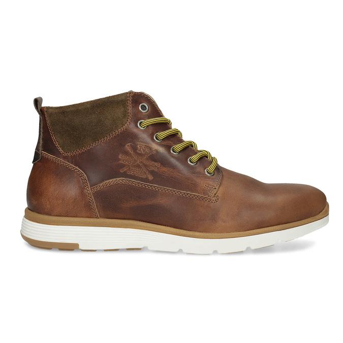 Kožená pánska členková obuv bata, hnedá, 846-3645 - 19