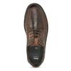 Kožené pánske ležérne poltopánky s prešitím bata, hnedá, 826-4917 - 17