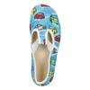 Detská domáca obuv s autíčkami bata, modrá, 279-9105 - 15