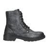 Detské kožené šnurovacie topánky bullboxer, čierna, 496-6016 - 26