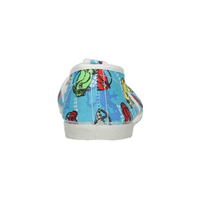 Detská domáca obuv s autíčkami bata, modrá, 279-9105 - 16