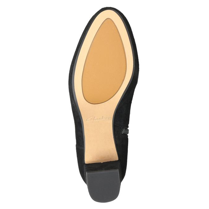 Kožená členková obuv na podpätku clarks, čierna, 713-6035 - 17
