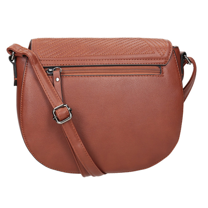 Dámska kabelka s prešitím gabor-bags, hnedá, 961-3055 - 16