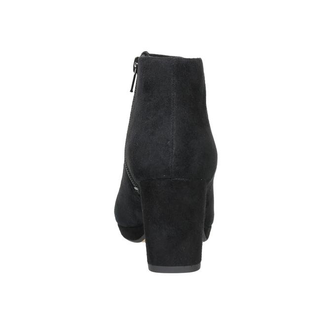 Kožená členková obuv na podpätku clarks, čierna, 713-6035 - 16