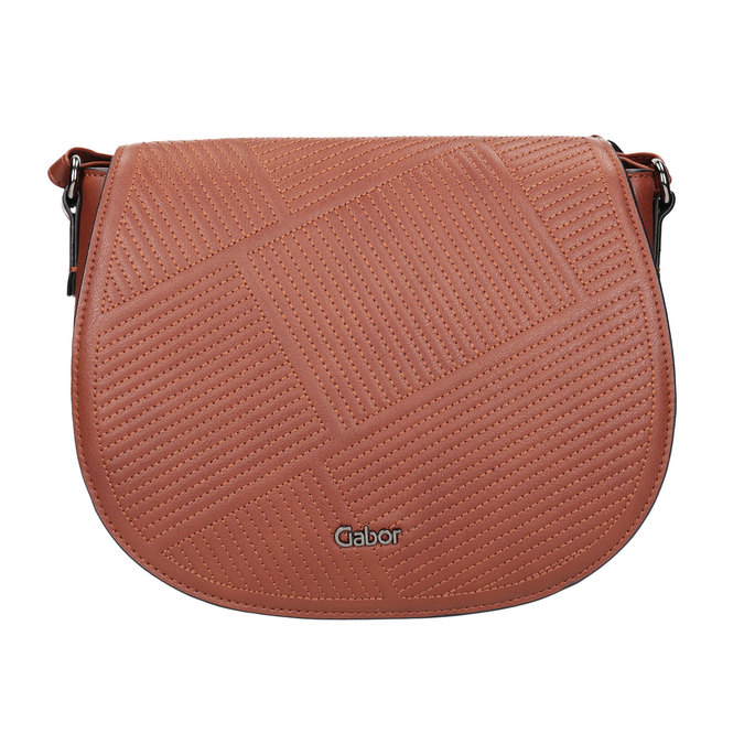 Dámska kabelka s prešitím gabor-bags, hnedá, 961-3055 - 26