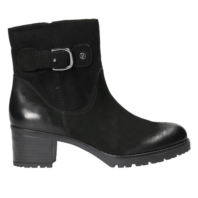 Kožené členkové čižmy s prackou bata, čierna, 696-6621 - 15
