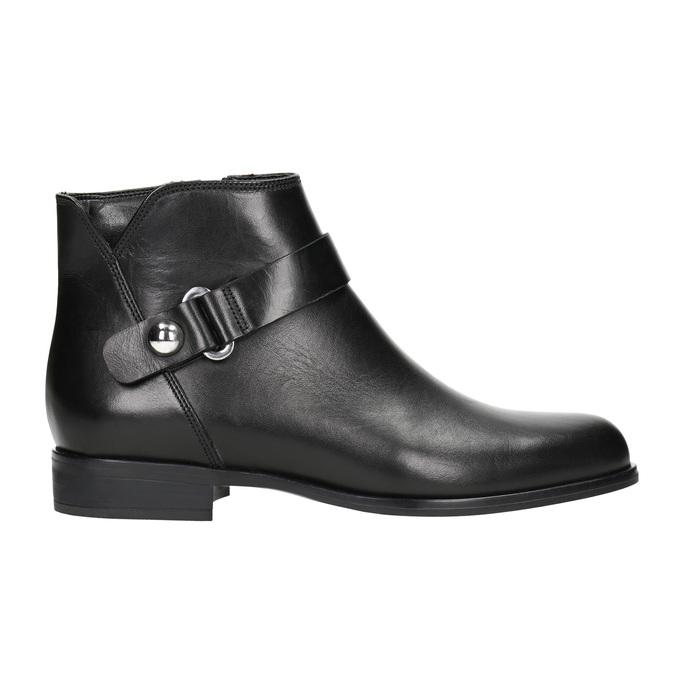 Kožená čierna členková obuv bata, čierna, 596-6669 - 26