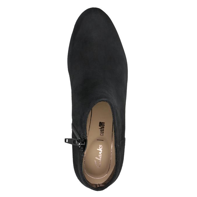 Kožená členková obuv na podpätku clarks, čierna, 713-6035 - 15
