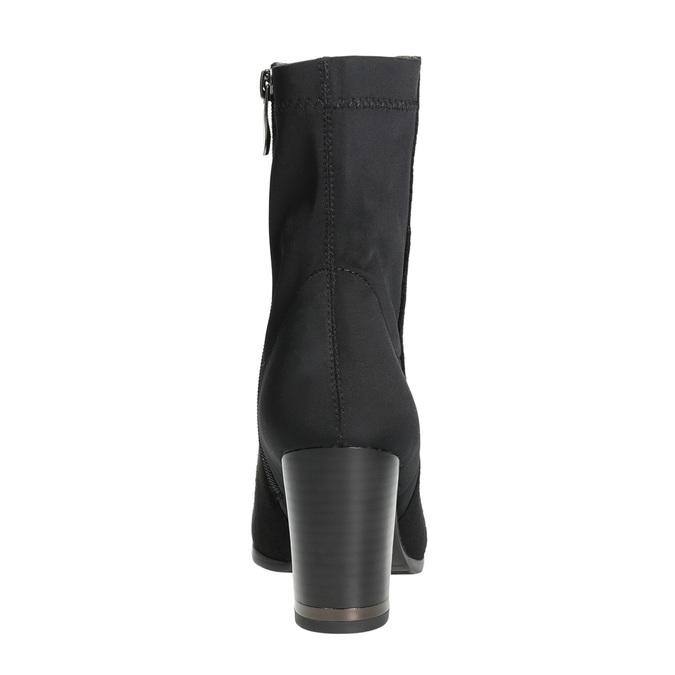 Členkové čižmy na podpätku bata, čierna, 699-6636 - 17