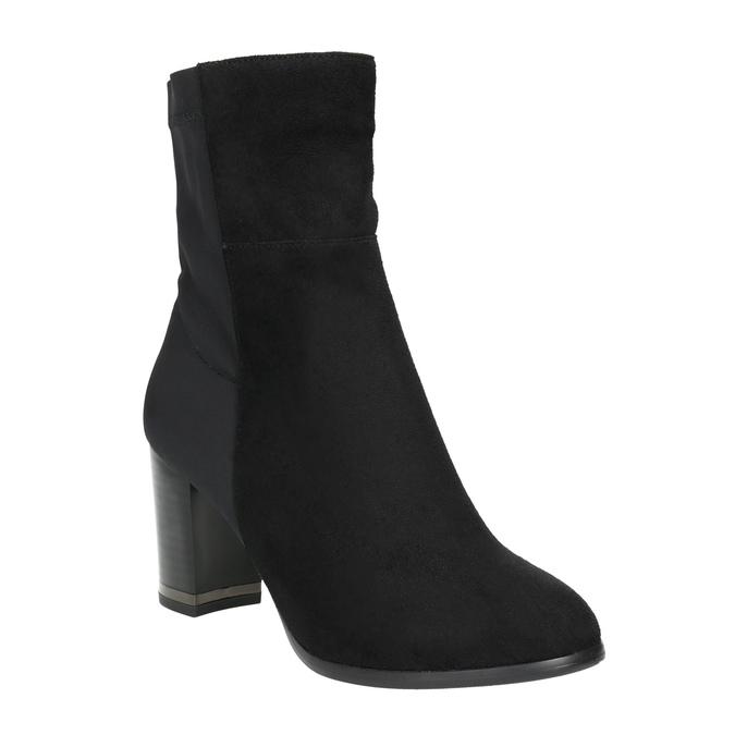 Členkové čižmy na podpätku bata, čierna, 699-6636 - 13