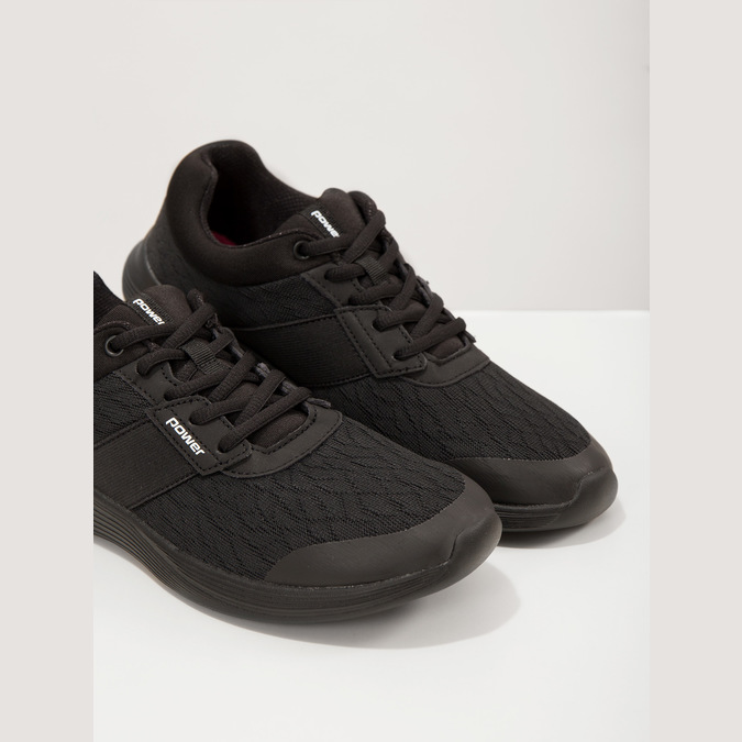 Dámske čierne tenisky power, čierna, 509-6203 - 18