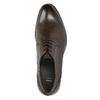 Hnedé kožené Derby poltopánky bata, hnedá, 824-4618 - 26