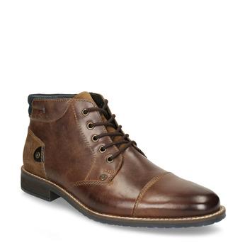Pánska kožená členková obuv bata, hnedá, 826-3611 - 13