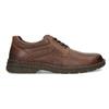 Hnedé kožené poltopánky bata, hnedá, 826-4918 - 19