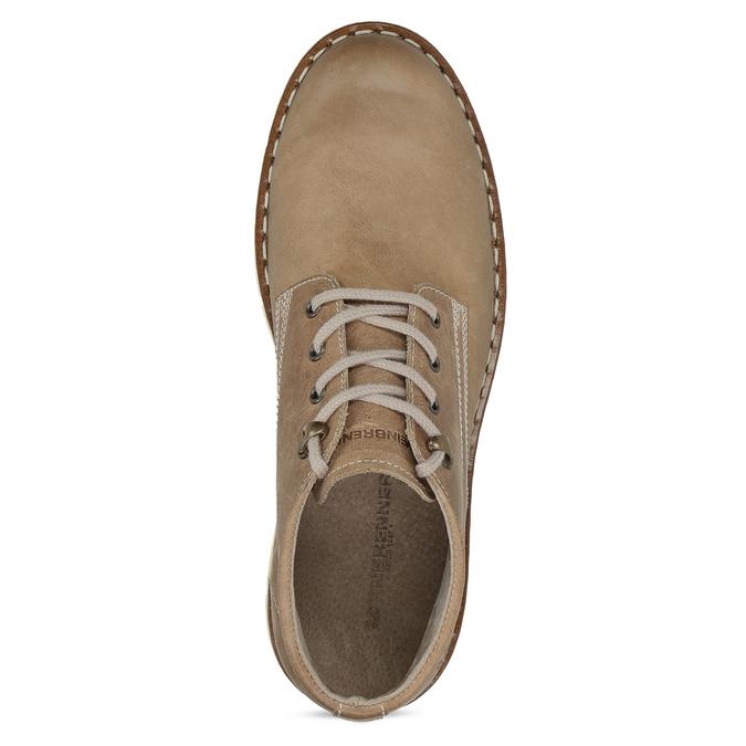 Kožená členková obuv na výraznej podrážke weinbrenner, hnedá, 846-4658 - 17