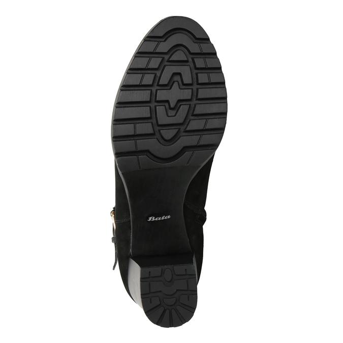 Dámske členkové čižmy s prackou bata, čierna, 796-6644 - 17