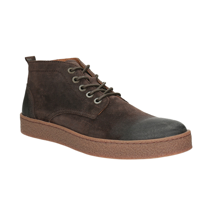 Pánska kožená členková obuv bata, hnedá, 846-4653 - 13