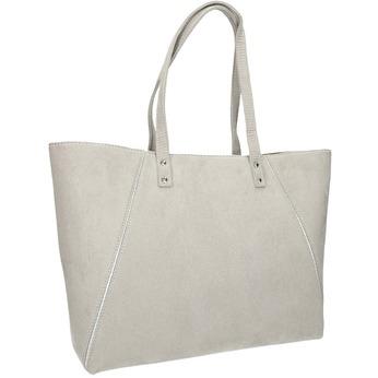 Béžová kabelka so striebornými detailami bata, šedá, 969-2669 - 13
