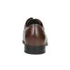 Hnedé kožené poltopánky bata, hnedá, 824-4600 - 17