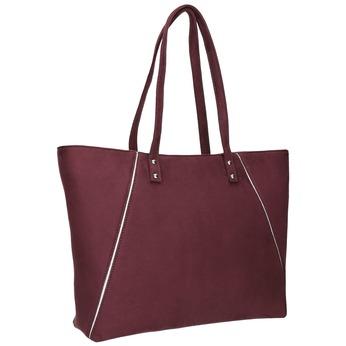Vínová dámska kabelka bata, červená, 969-9669 - 13