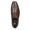 Hnedé kožené poltopánky bata, hnedá, 824-4600 - 26