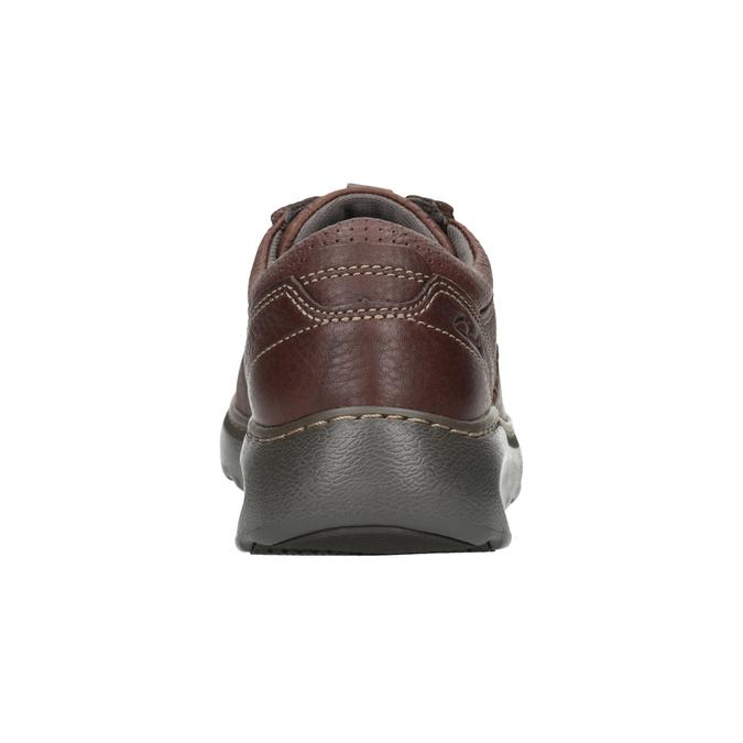 Kožené poltopánky s prešívaním clarks, hnedá, 826-4024 - 16