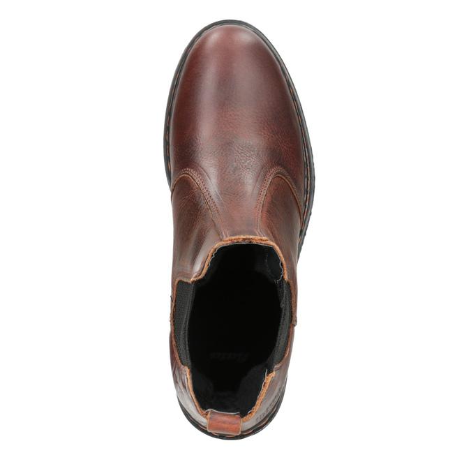 Kožená dámska Chelsea obuv bata, hnedá, 596-3680 - 15