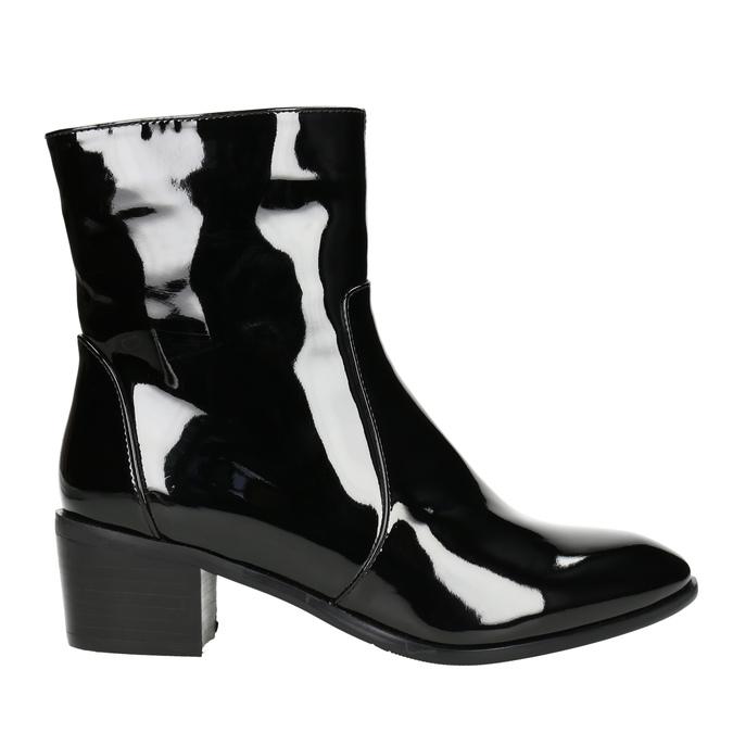 Členková obuv bata, čierna, 691-6630 - 15