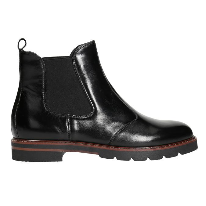 Kožená dámska Chelsea obuv bata, čierna, 596-6657 - 15
