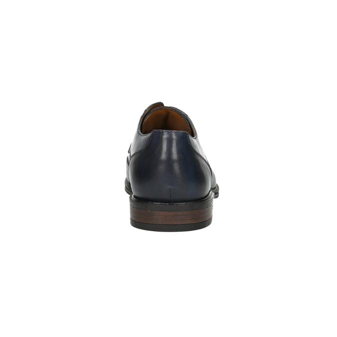 Modré kožené pánske poltopánky bata, modrá, 826-9914 - 17