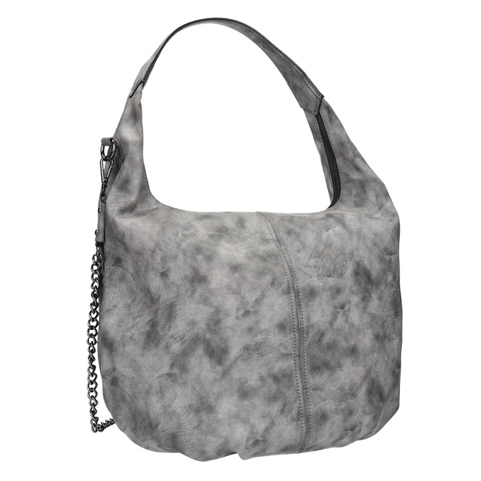 Hobo kabelka s retiazkou bata, šedá, 961-2765 - 13