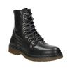 Kožená dámska členková obuv bata, čierna, 594-6681 - 13