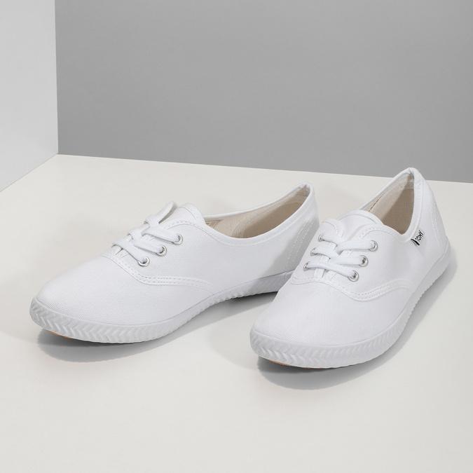Dámske biele tenisky tomy-takkies, biela, 589-1180 - 16