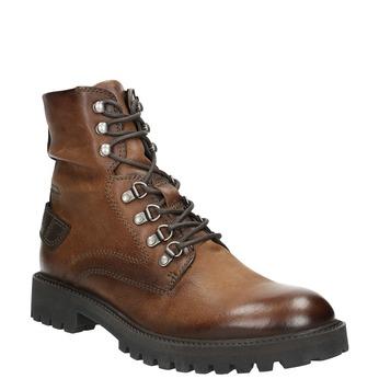 Kožená členková obuv bata, hnedá, 896-3663 - 13