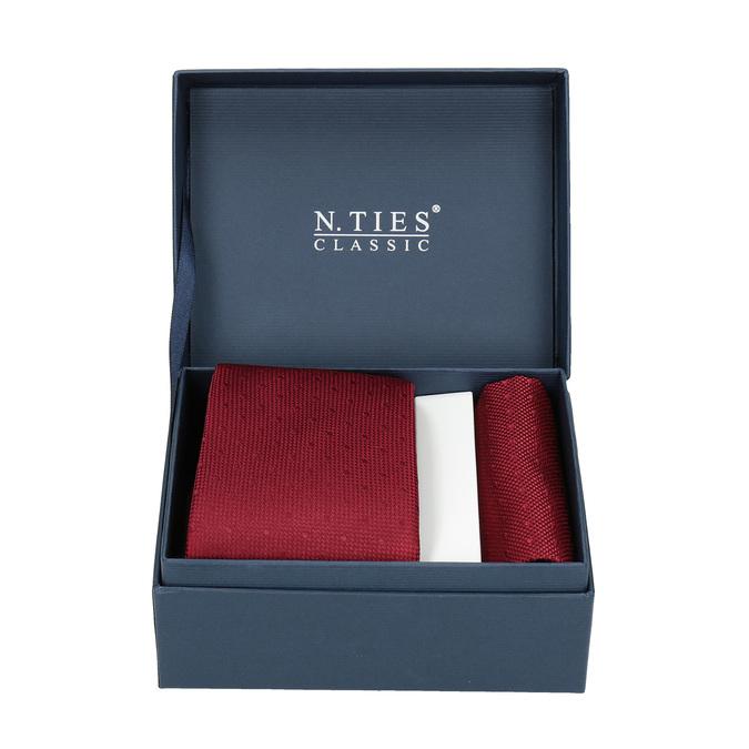 Červená sada kravaty a vreckovky n-ties, červená, 999-5290 - 13