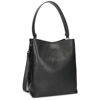 Čierna kabelka s odnímateľným popruhom bata, čierna, 961-2173 - 13