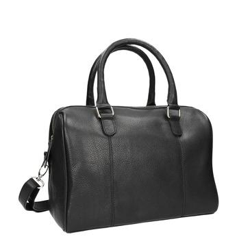 Dámska kožená kabelka bata, čierna, 964-6281 - 13