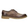 Hnedé kožené poltopánky bata, hnedá, 826-4620 - 15