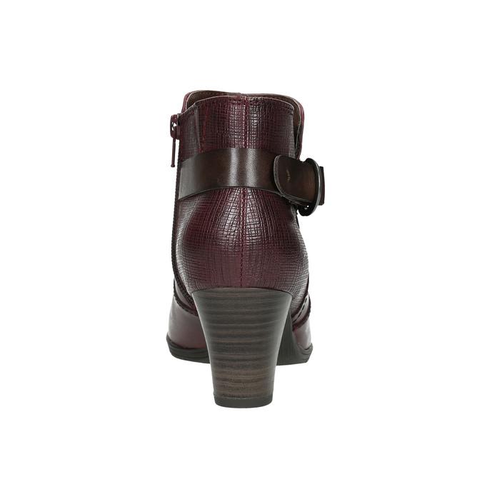 Členková obuv šírky H bata, červená, 696-5625 - 17