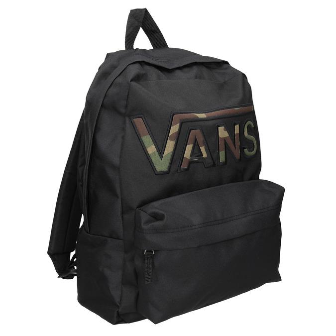 Čierny batoh s logom vans, čierna, 969-6078 - 13