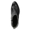 Členková kožená obuv s kovovými cvokmi bata, čierna, 696-6652 - 15