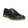 Pánske kožené Derby poltopánky bata, čierna, 826-6620 - 13