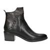Členková kožená obuv s kovovými cvokmi bata, čierna, 696-6652 - 26