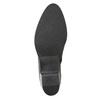 Členková kožená obuv s kovovými cvokmi bata, čierna, 696-6652 - 17
