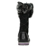 Kožené dievčenské čižmy s kožúškom mini-b, čierna, 394-6193 - 16