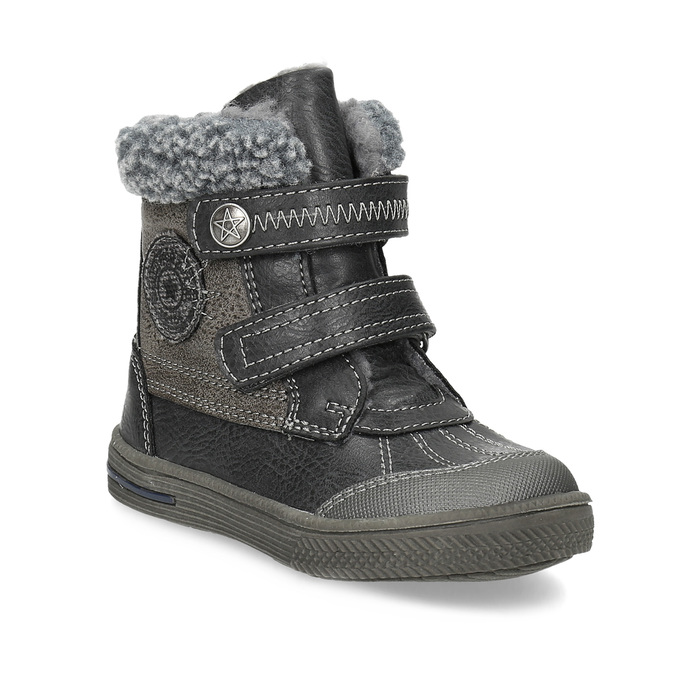 Detská zimná obuv so zateplením bubblegummers, šedá, 191-4619 - 13