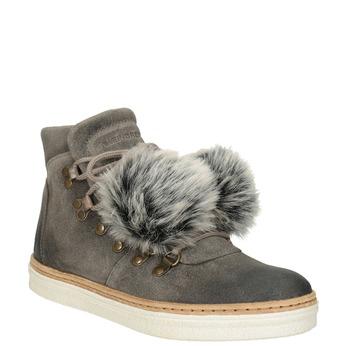 Dámska zimná obuv so šnurovaním weinbrenner, šedá, 596-2674 - 13