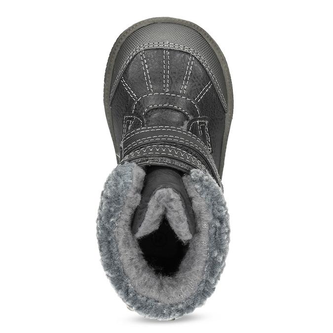 Detská zimná obuv so zateplením bubblegummers, hnedá, 191-4619 - 17